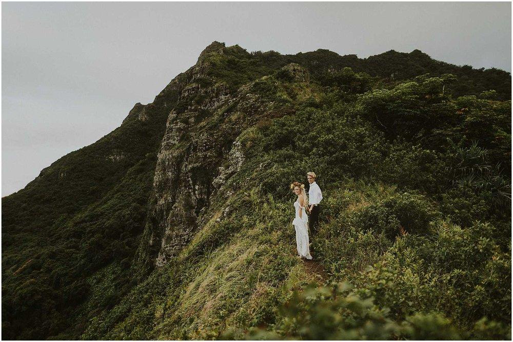 Oahu Hawaii Adventure Hiking Elopement
