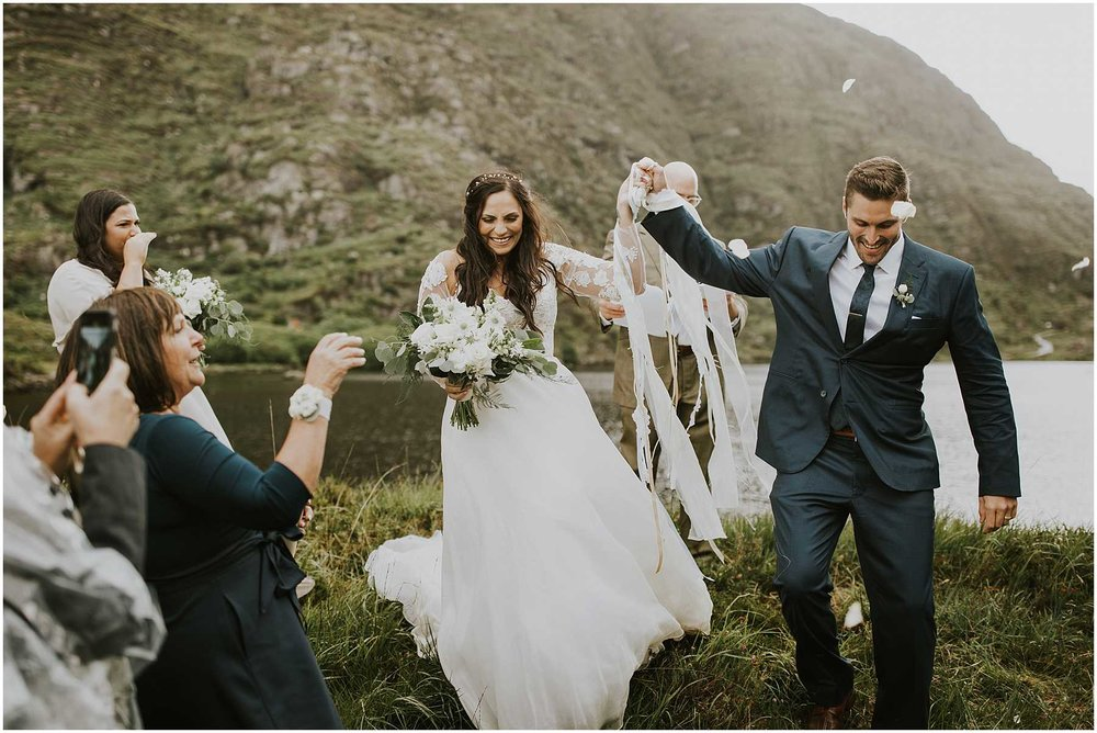 Intimate Wedding at the Gap of Dunloe in Ireland -