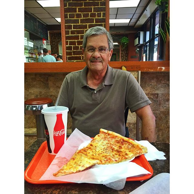 Pizza with Dad in NYC.#upperwestside