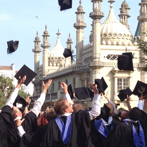 How beautiful is this shot!! Wishing my little baby brother every success!    #graduation #photo #nofilter   #brighton #pavillion