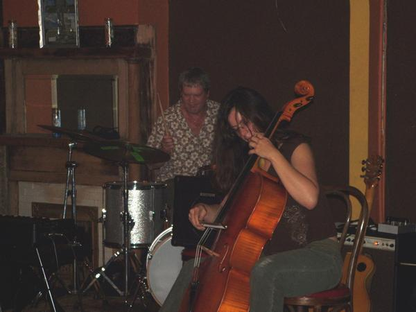 Dave Capello, Helen Gillet, my Chip Wilson seven string at open ears