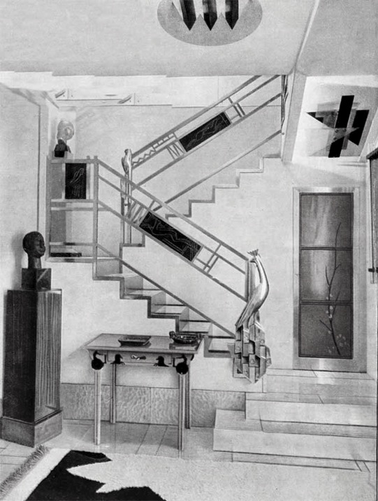 Which elements do we keep, and which do we leave in history? Jacques Doucet's hôtel particulier stairs, 33 rue Saint-James, Neuilly-sur-Seine, 1929 photograph by Pierre Legrain. Pierre Legrain (1889 - 1929) - The Red List