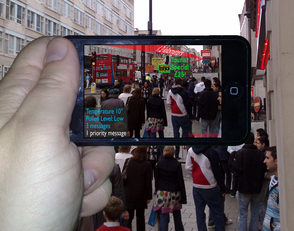 Handheld Augmented Reality mockup, by Jamais Cascio (CC BY-NC 2.0)
