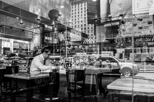 Eating Alone [Explored]  by  Jim Pennucci  -  Attribution 2.0 Generic (CC BY 2.0)
