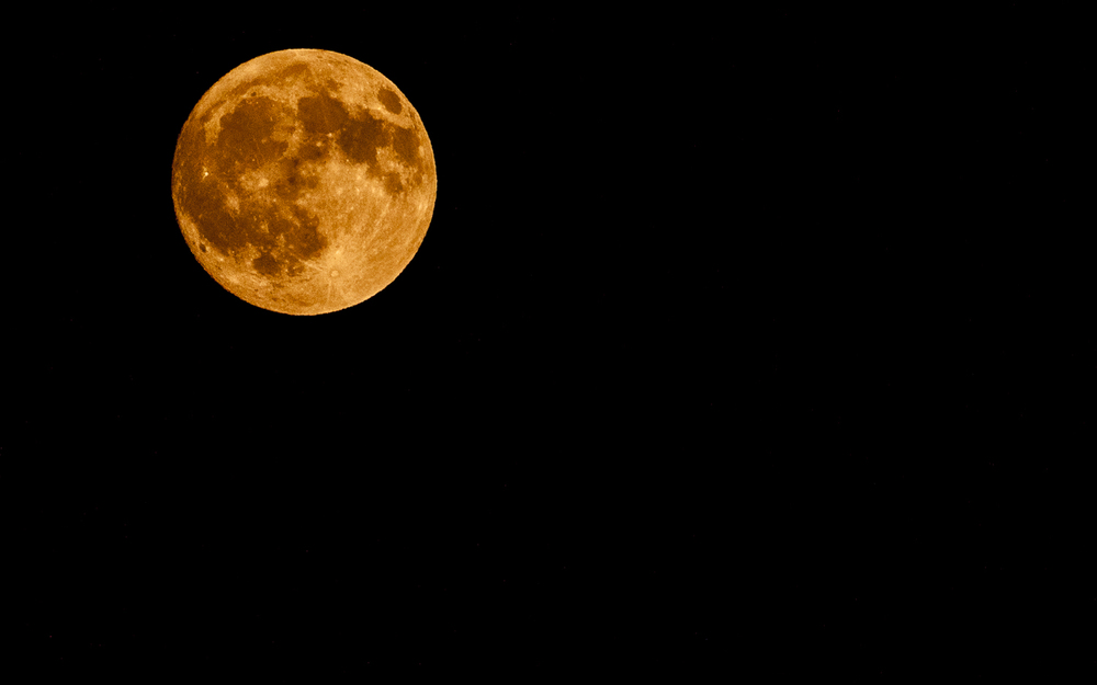 Full Moon -- Color Temperature Set to Warm Range