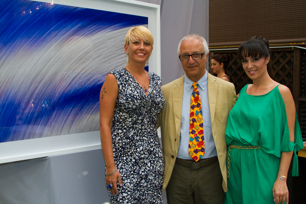 Gallerist Yanina Monti , Artist Ariel Toledano and Fenix Awards Director Nancy Clara.