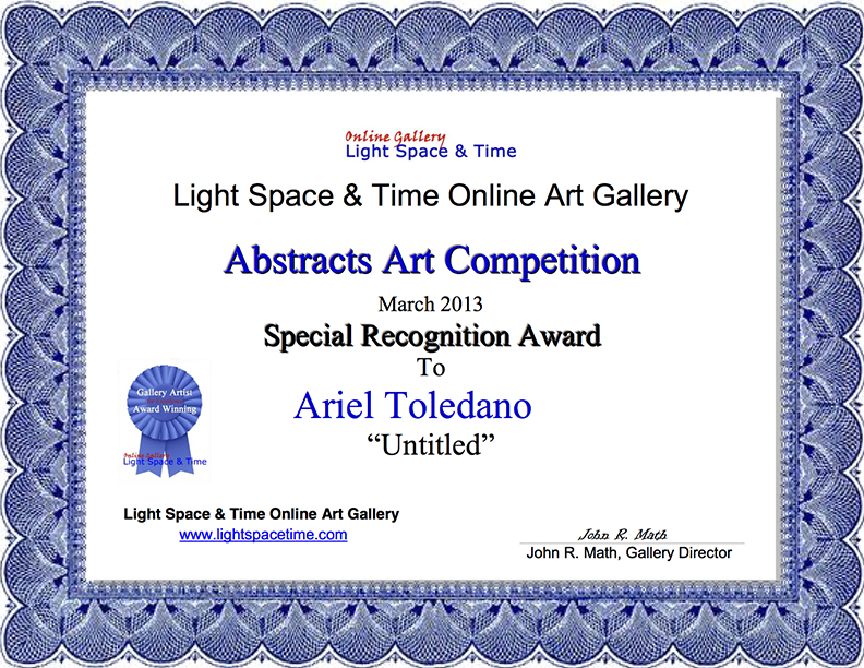 SR - Ariel Toledano - ABSTRACTS 2013 AWARD CERTIFICATE.jpg