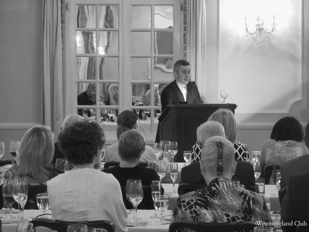 Tuzzi lecturing at Westmoreland Club.JPG