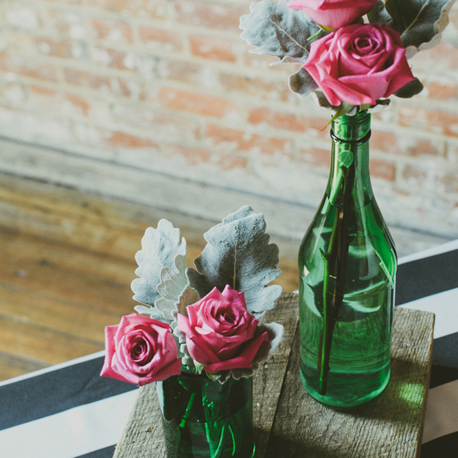 Eclectic and hip urban wedding in downtown Louisville, KY