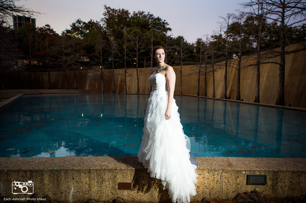 Bridal portraits fort worth water gardens zach - Fort worth water gardens wedding ...
