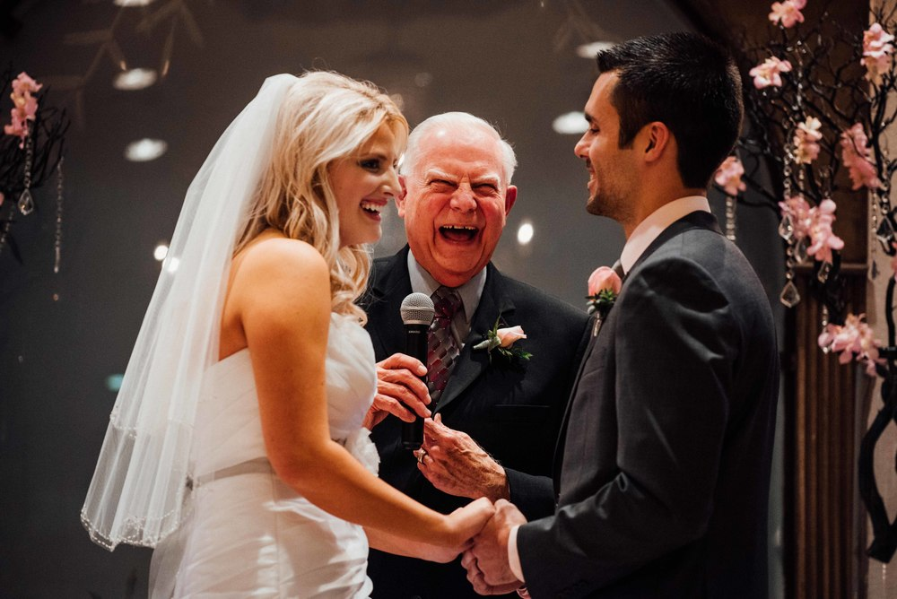 Ryan's Grandfather was the officiant during the ceremony. He delivered a beautiful sermon full of wisdom and humor!