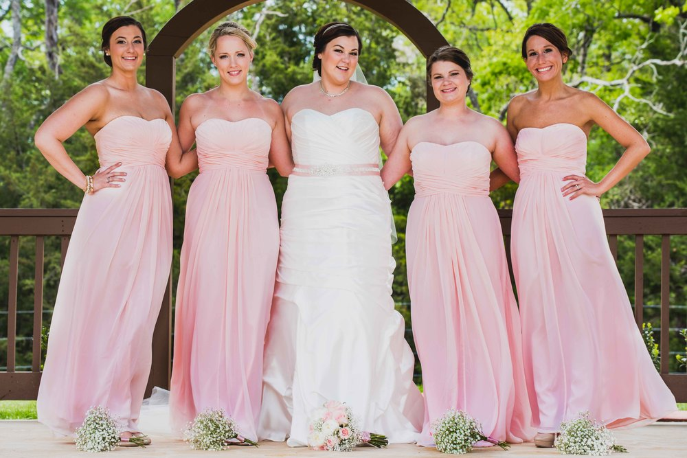 Dallas Wedding - Heritage Springs - Katie and Dustin - Bridesmaids