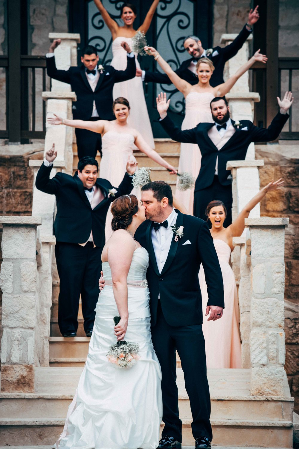Dallas Wedding - Heritage Springs - Katie and Dustin - Bridal Party Celebrating