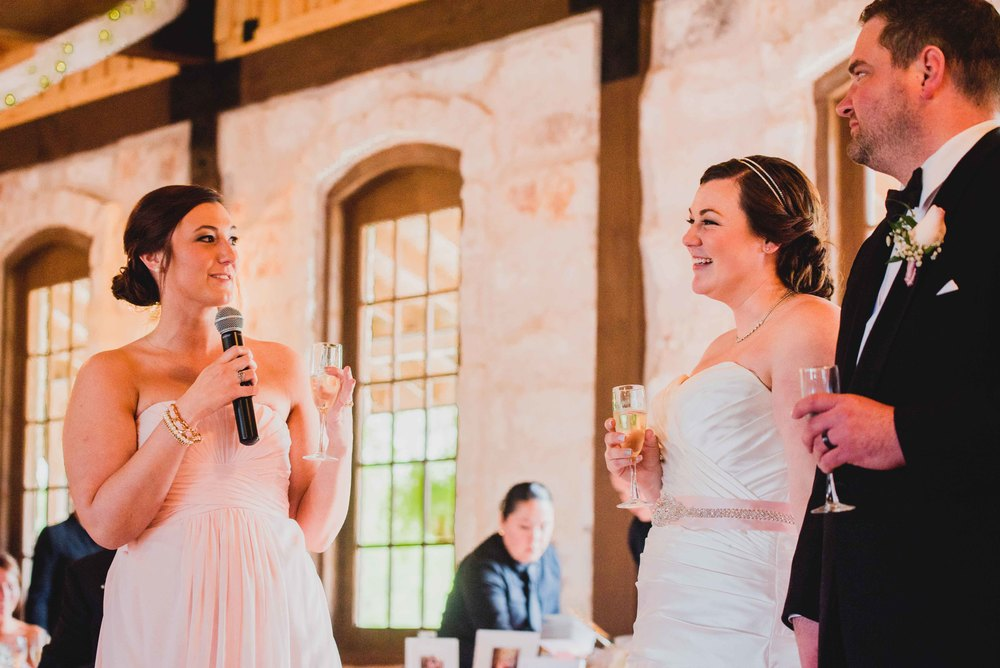Dallas Wedding - Heritage Springs - Katie and Dustin - Maid of honor speech