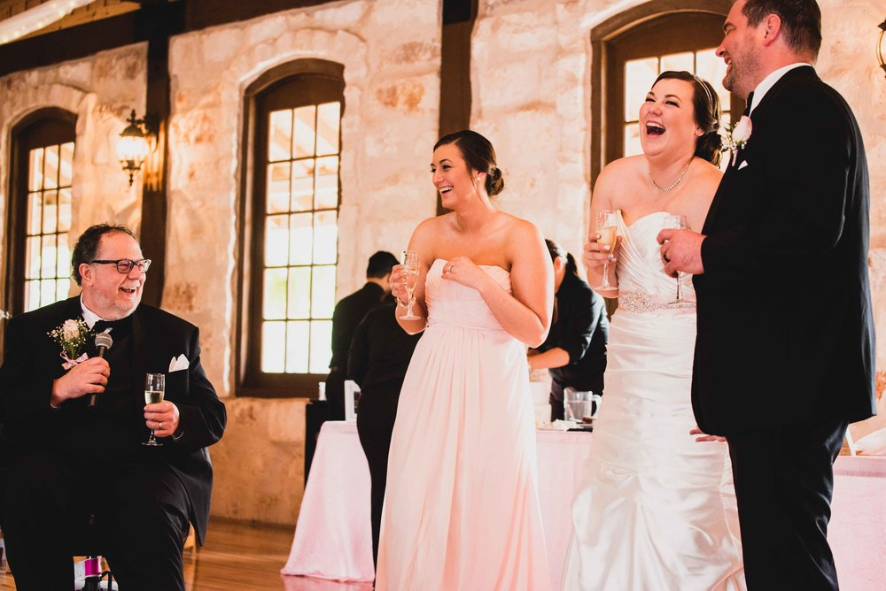 Dallas Wedding - Heritage Springs - Katie and Dustin - Dad Speech