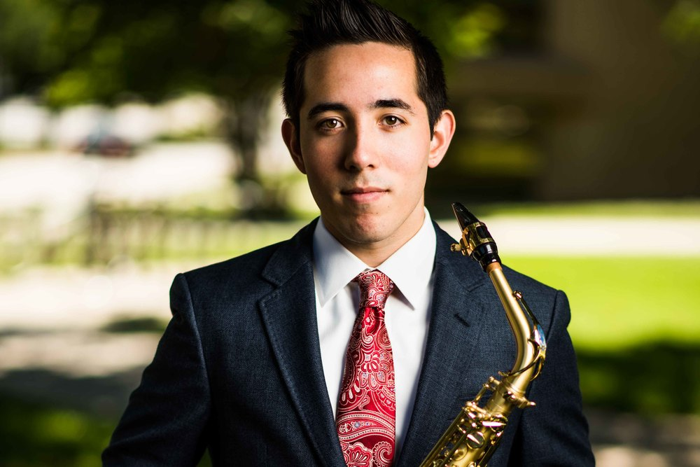UNT Graduation Photos - Sean - Denton Texas - Saxophone