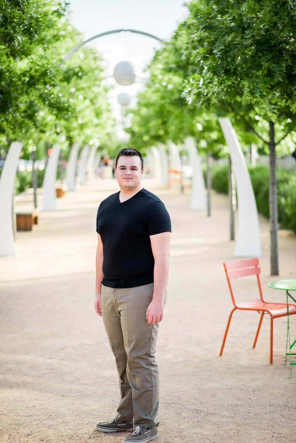 Marcus Senior Pictures - Logan - Downtown Dallas