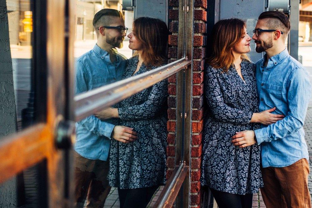 Reflected Engagement Photo