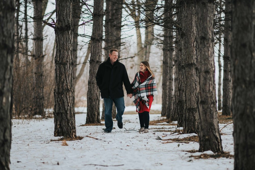 Woodsy Engagement Photos