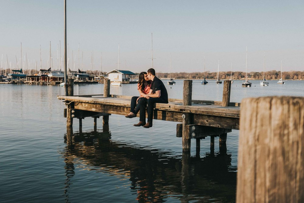White Rock Lake Engagement Photos