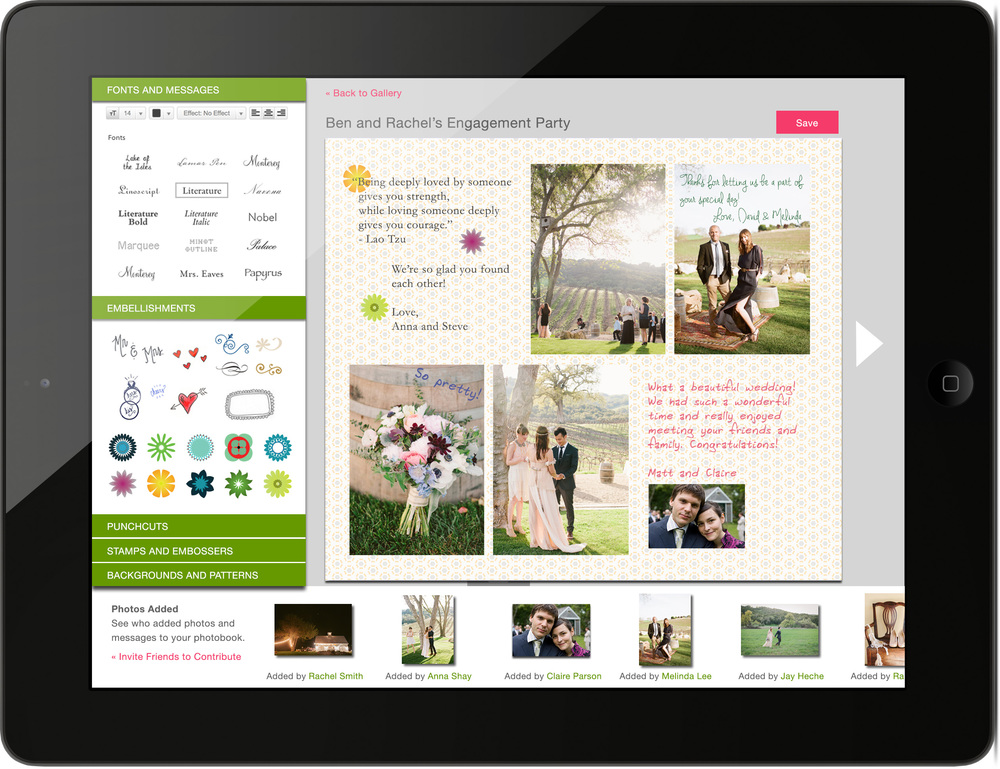 iPad Collaborative Wedding Photobook