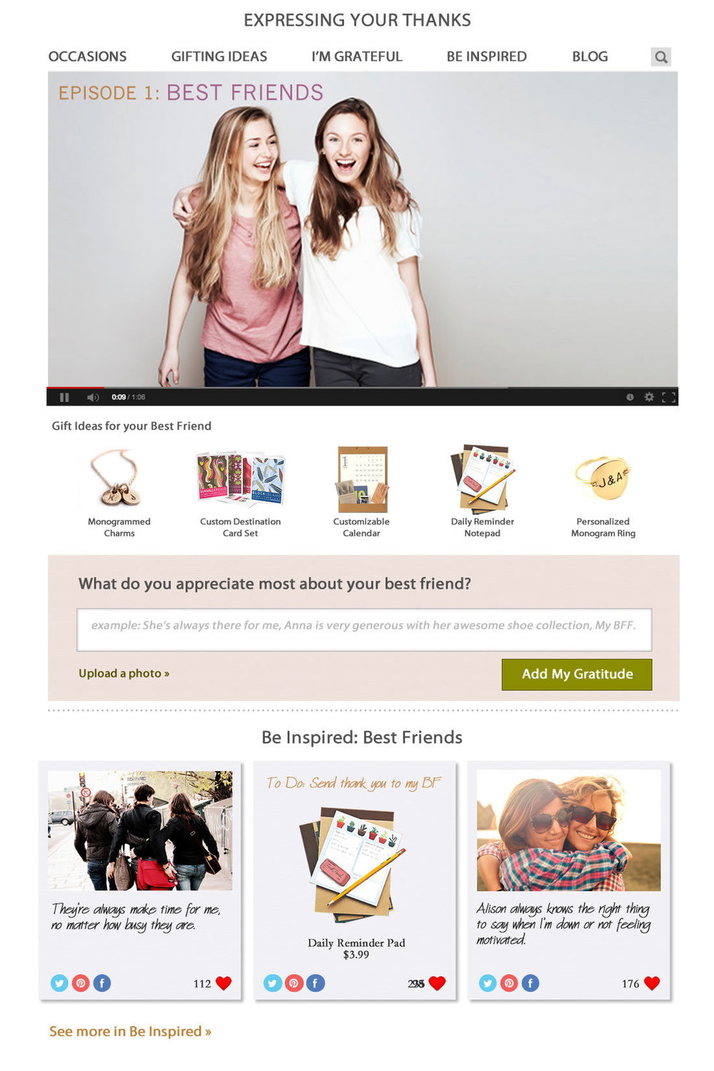 Best Friends Main Page