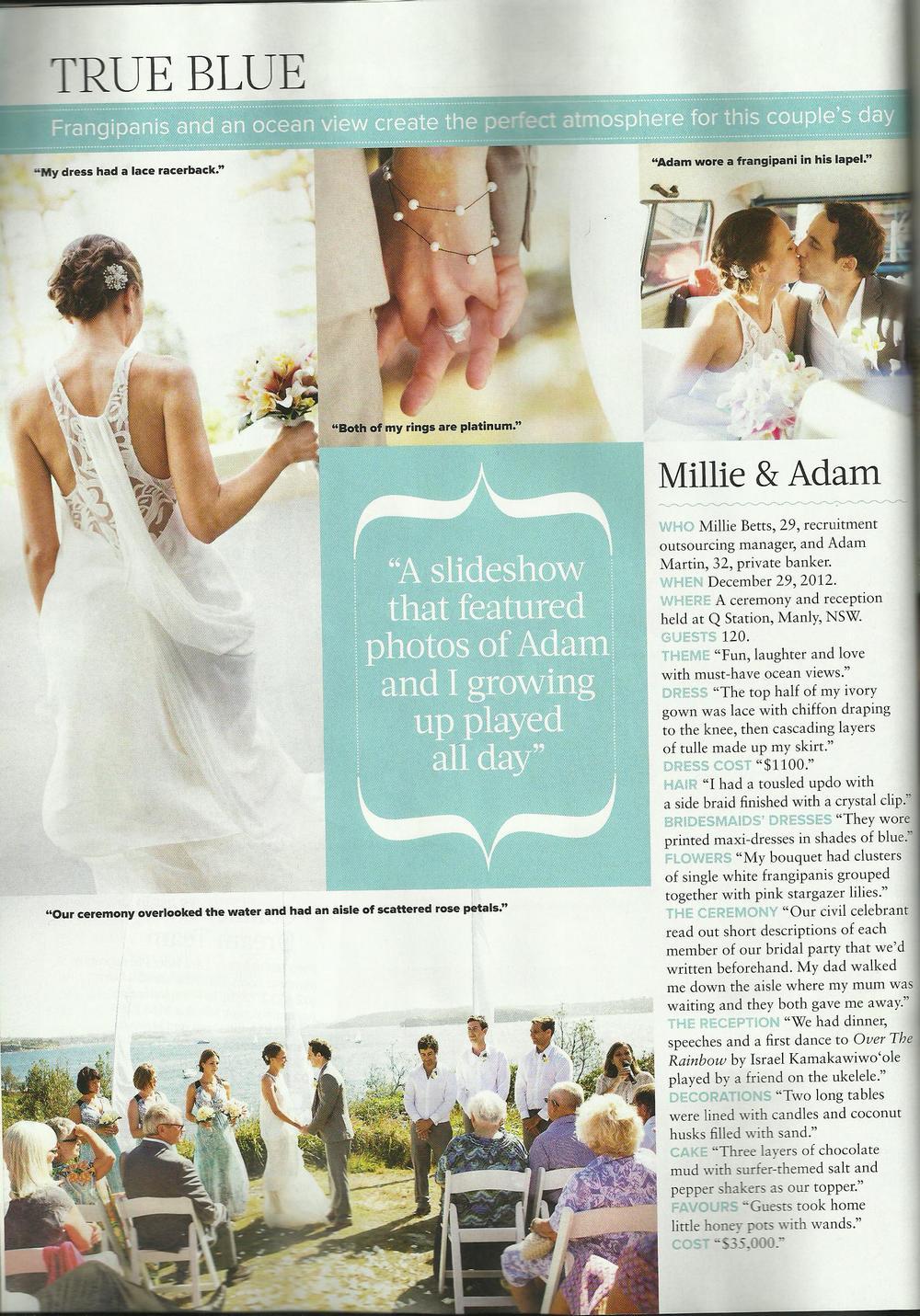 Cosmopolitan Bride May 2013