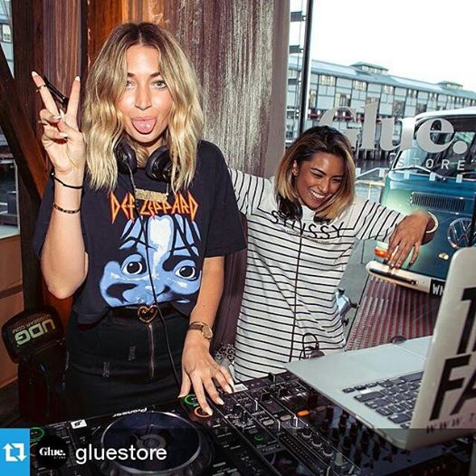 glue store launch with the dj faders at simmer on the bay, summer campaign 2014/15