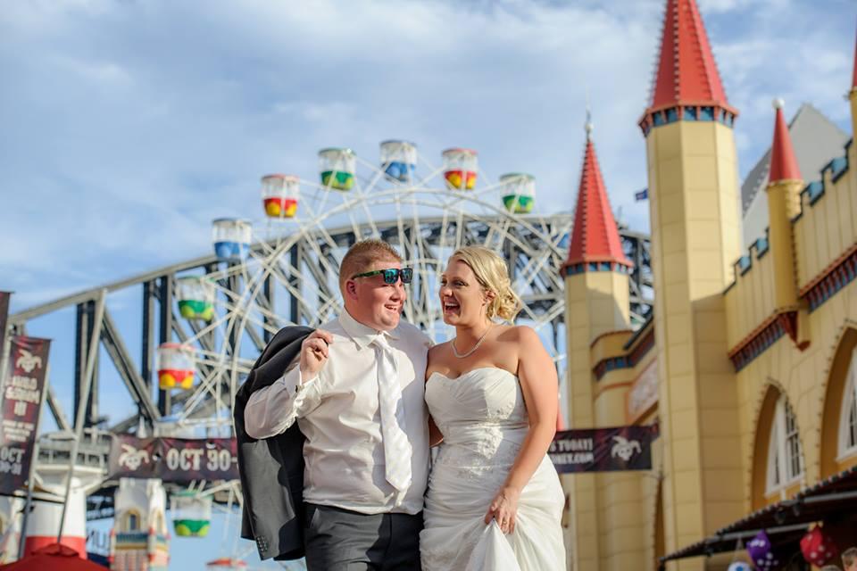 wedding luna park sydney