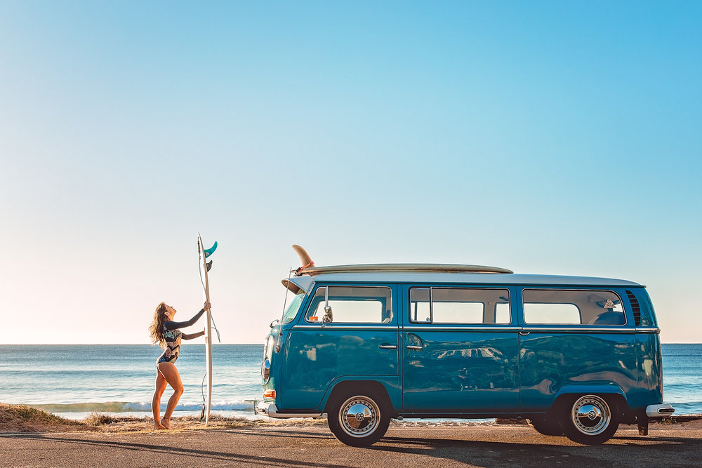 The surfers dream beach mobile | Capture by Mark Morgan Photography with O'Neill Australia -