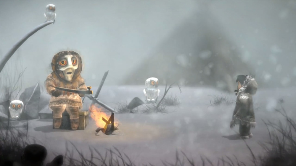 Visually impressive, the graphics in Never Alone are gorgeous.