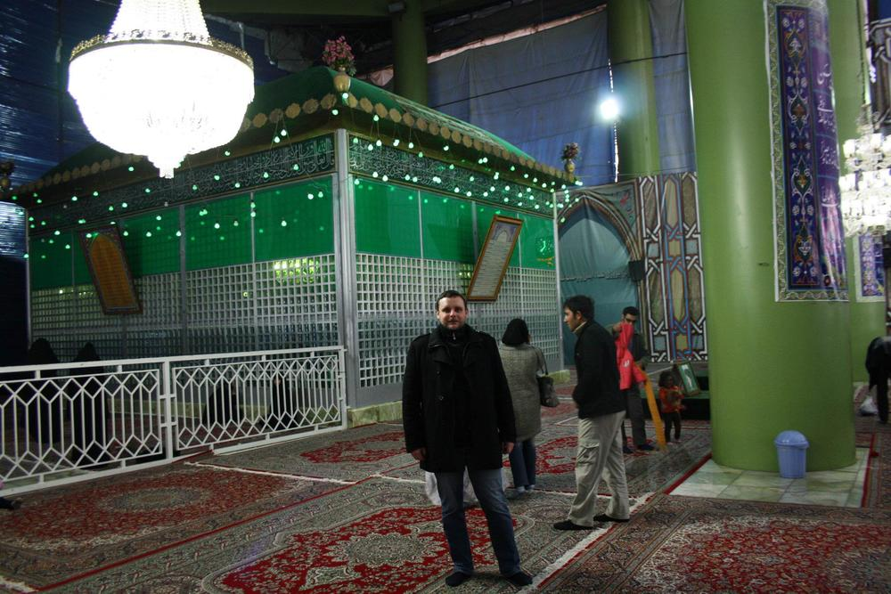 at the Khomeini Shrine, Teheran in 2012