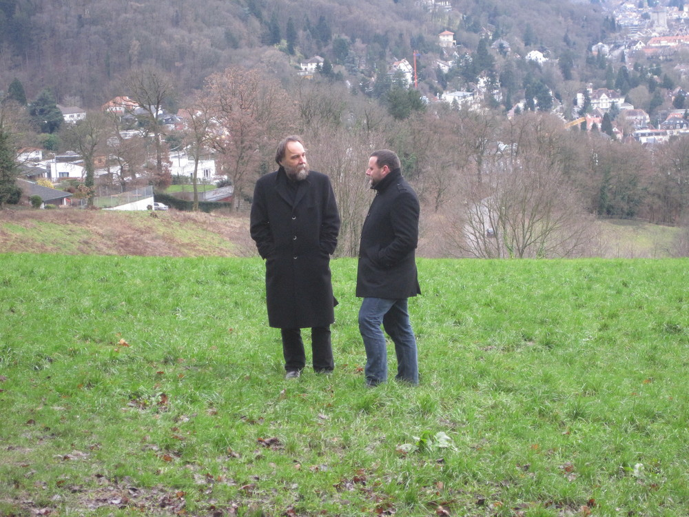 Alexander Dugin and Manuel Ochsenreiter in Freiburg (Germany)