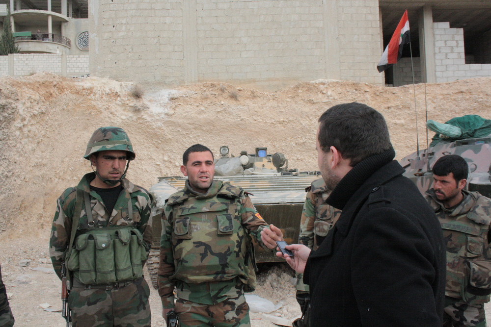 Interview with members of the Syrian Arab Army who fought in Maaloula against islamist militants
