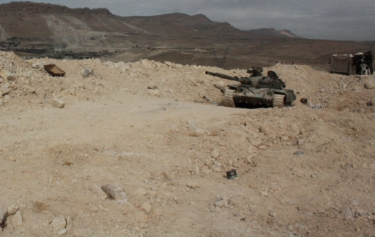 Syrian tank at the army base: There were several attacks by islamist militants in the past.