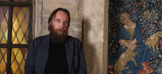"Prof. Alexandr Dugin is a philosopher and a professor at Moscow State University. Dugin is the leader of the international ""Eurasian Movement"", and he is known for the book Foundations of Geopolitics."
