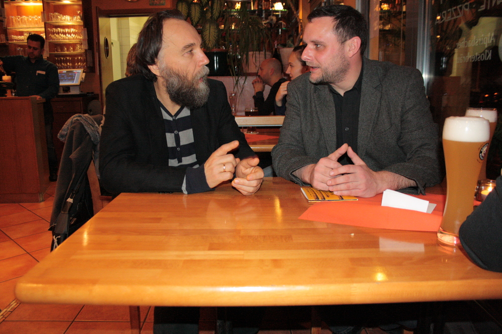 Discussing with Prof. Alexandr Dugin in Freiburg (Germany)