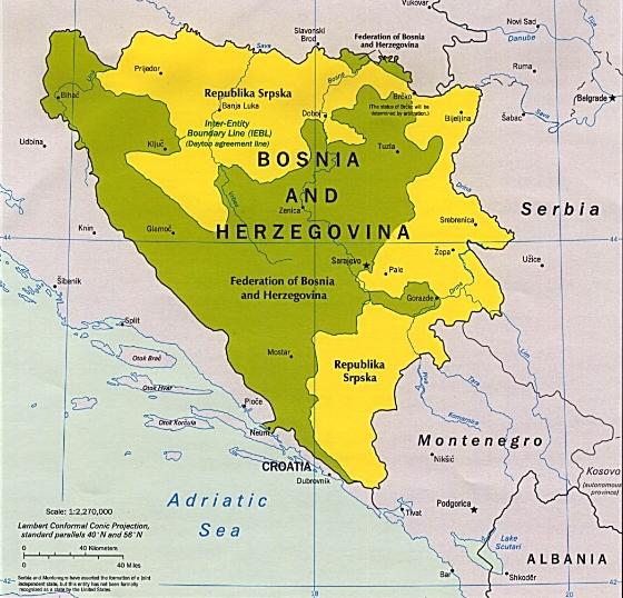 Political Map ofBosnia and Herzegovina