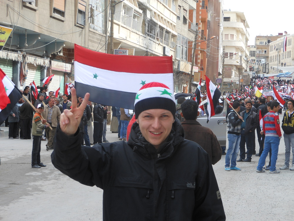 "Ruben Rosiers (27) is a Belgian citizen and activist of the ""European Solidarity Front for Syria"". Roseris studied Public Relations and works for a Flamish company."
