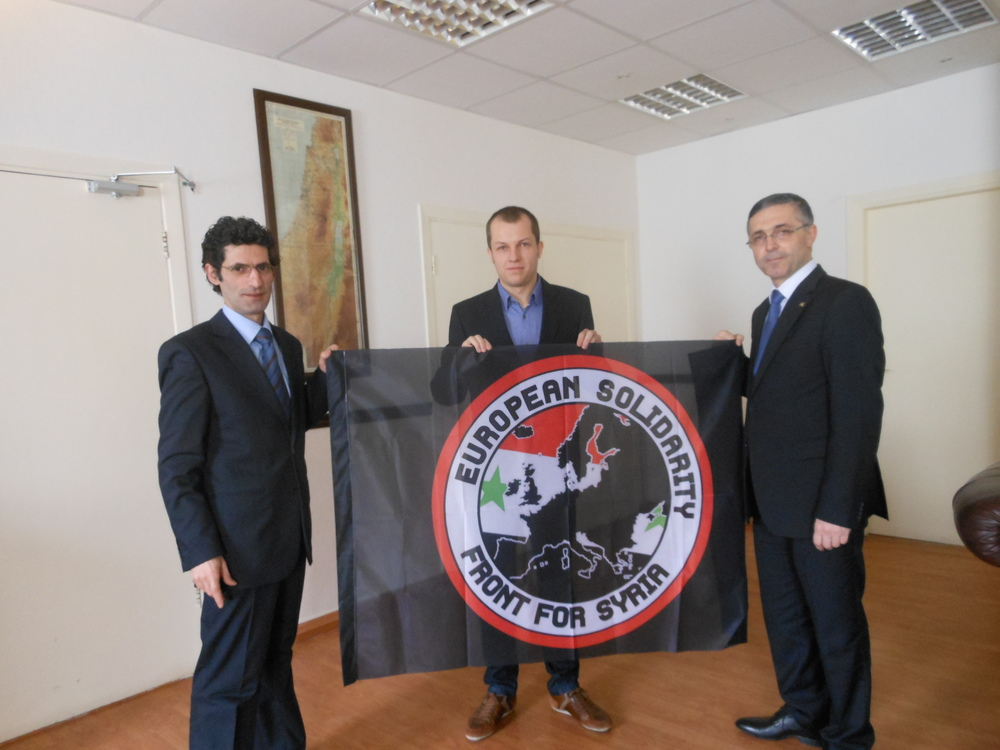 Ruben Rosiers and minister Ali Haidar (right)