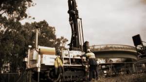DB520 multipurpose rig undertaking geotech investigation for infrastructure project in Sydney NSW