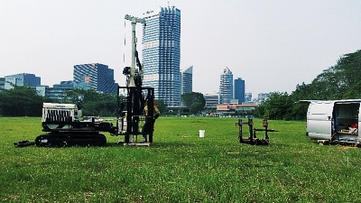 Membrane Interface Probe (MIP) run on Numac Geoprobe 7822 in Singapore.