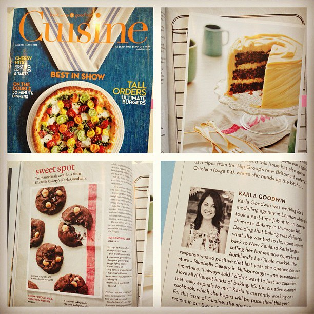 Bluebells Cakery in Cuisine Magazine