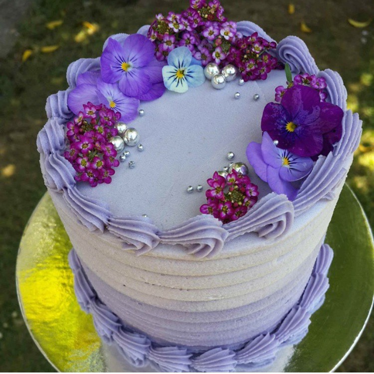 Textured Ombre with Edible Flowers
