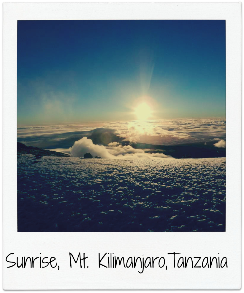 I snapped this photo moments after reaching the summit of Mt. Kilimanjaro, the highest point in Africa.