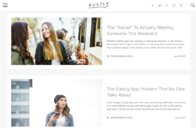 A couple of articles I've written for Bustle.com