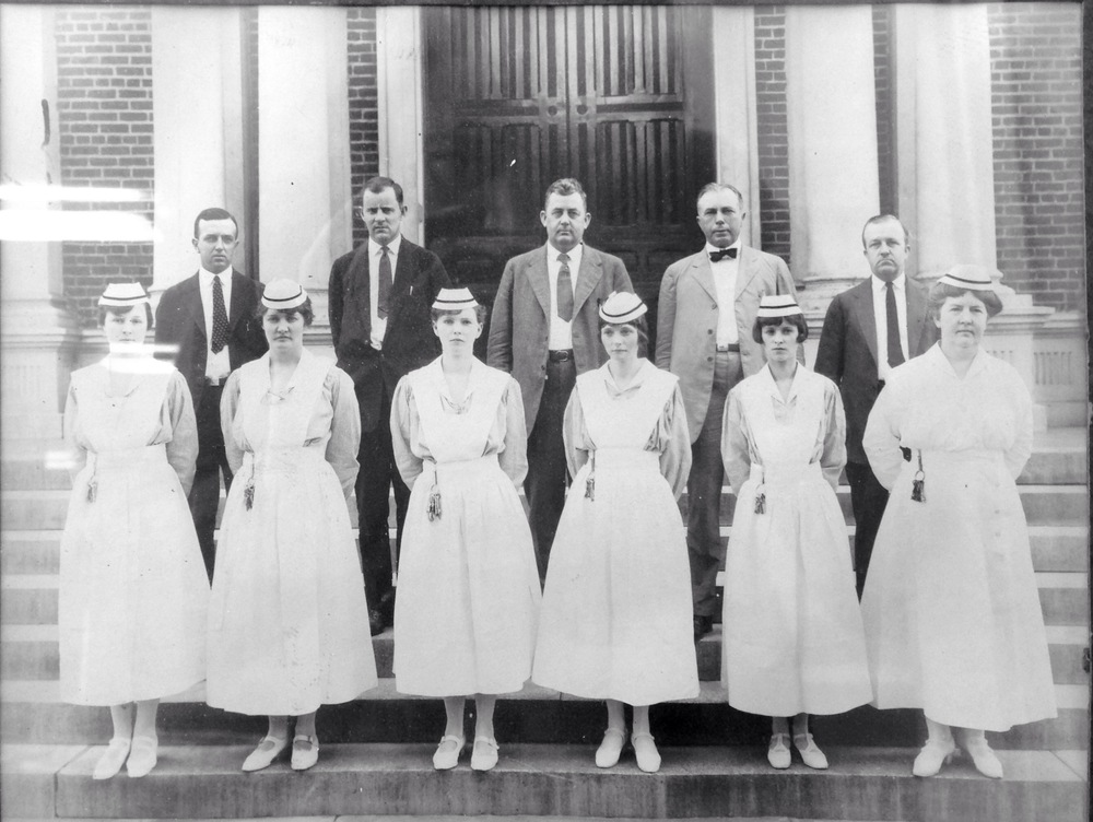 Some of the staff at Broughton in 1924.