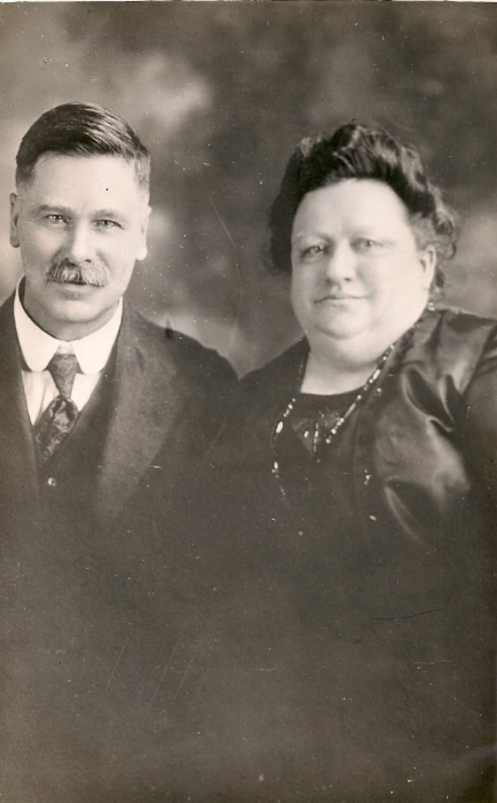 Fred Prinzing and his wife, Emma Haunschild.