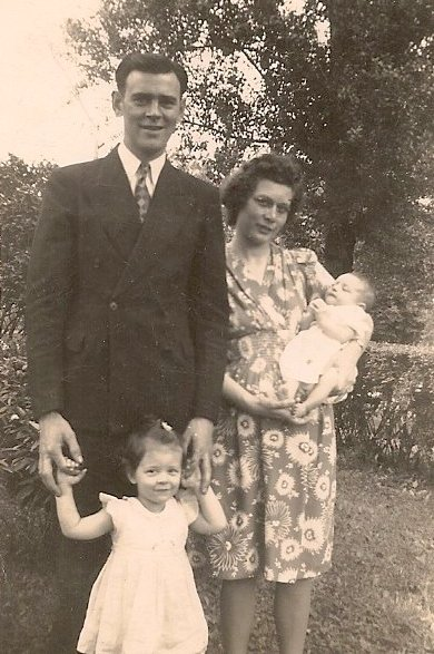 Harry, Vickie, Peg & Nancy Buerer. June 13, 1943