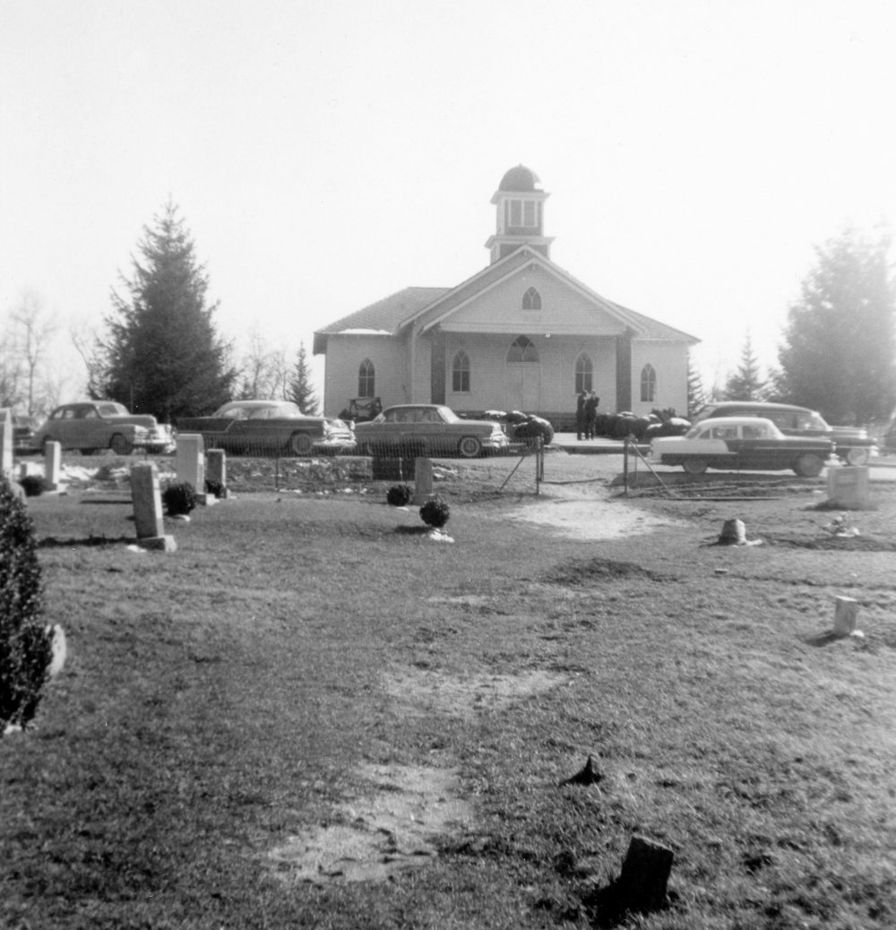 Bear Creek Baptist Church Cemetery the day of Eli's funeral in 1956